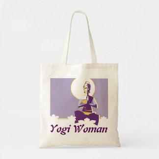 Yogi woman budget tote bag
