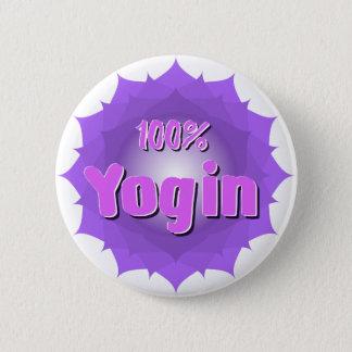 Yogin round button with violet mandala