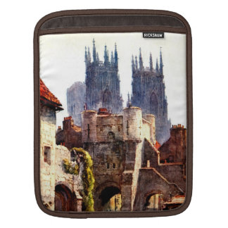 Yok Minster Bootham Bar Entrance Color Cathedral iPad Sleeves