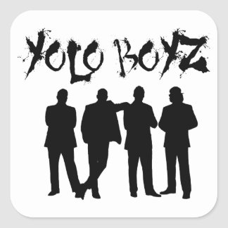 YOLO BOYZ SQUARE STICKER