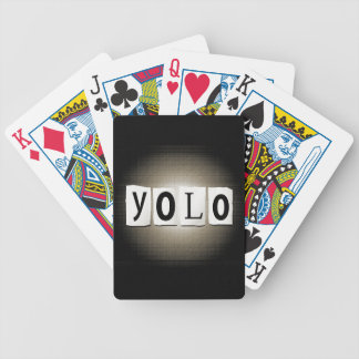 YOLO concept. Bicycle Playing Cards