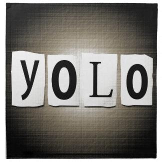 YOLO concept. Napkin