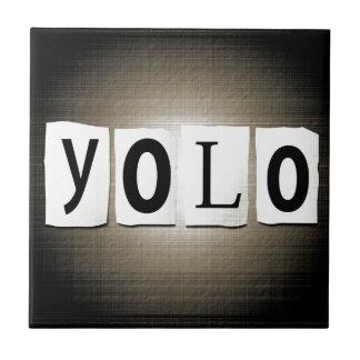 YOLO concept. Tile
