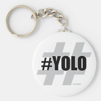 YOLO Hashtag Key Ring
