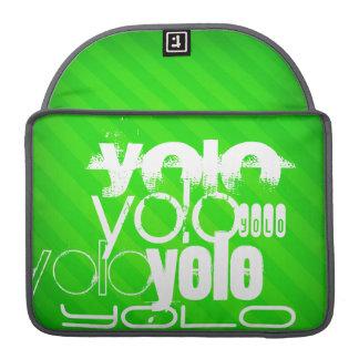 Yolo; Neon Green Stripes MacBook Pro Sleeves