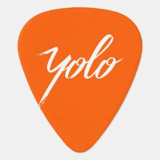 YOLO Orange Plectrum