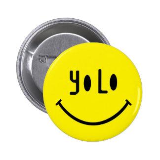 Yolo Smiley Face 6 Cm Round Badge