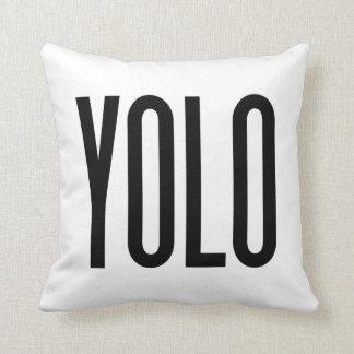 YOLO Statement Pillow