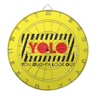 YOLO w/ Red Caution Dartboards