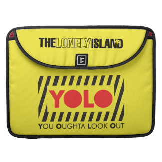 YOLO w/ Red Caution MacBook Pro Sleeves