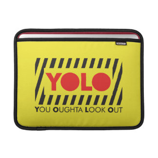 YOLO w/ Red Caution Sleeve For MacBook Air
