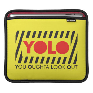 YOLO w/ Red Caution Sleeves For iPads