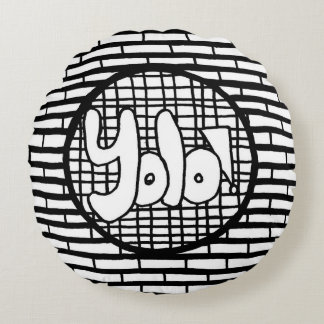 YOLO YinYang Two-sided Color Your Own Throw Pillow