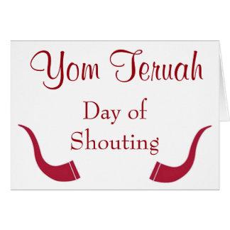 Yom Teruah Day of Shouting Card