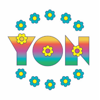 Yon in Flores Rainbow Photo Cut Outs