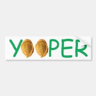 Yooper - Pasties Bumper Sticker