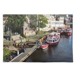 York City Guildhall and red boats Placemat