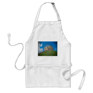 York, Cliffords tower in plastic Apron