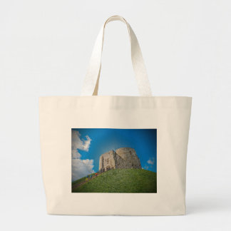 York, Cliffords tower in plastic Tote Bags