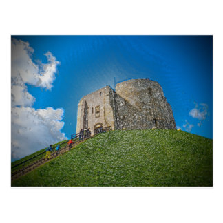 York, Cliffords tower in plastic Post Card
