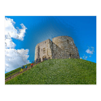 York, Cliffords tower in plastic Postcard