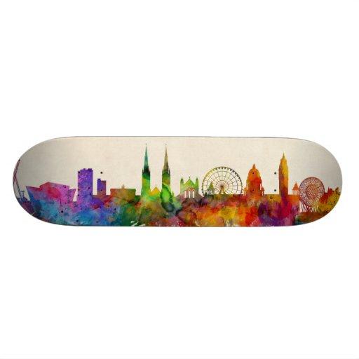 York England Skyline Custom Skateboard