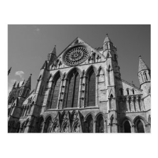 York Minster Cathedral Black and White Postcard