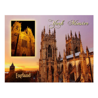 York Minster cathedral, York, England Postcard