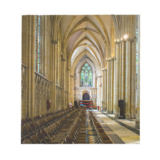 York Minster from inside. Notepad