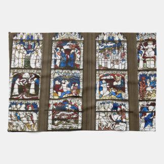 York Minster Great East Window. Tea Towel
