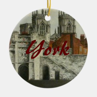 York painting - England Ceramic Ornament