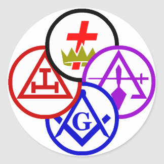 York Rite Bodies Pinwheel Logo Sticker