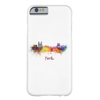 York skyline in watercolor barely there iPhone 6 case