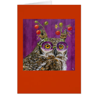 york the party owl card