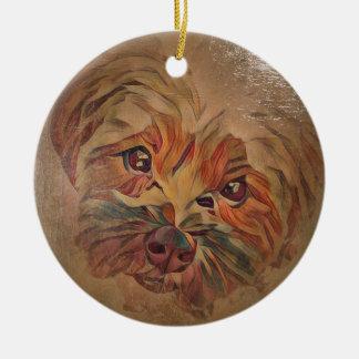 Yorkichon Holiday Ornament