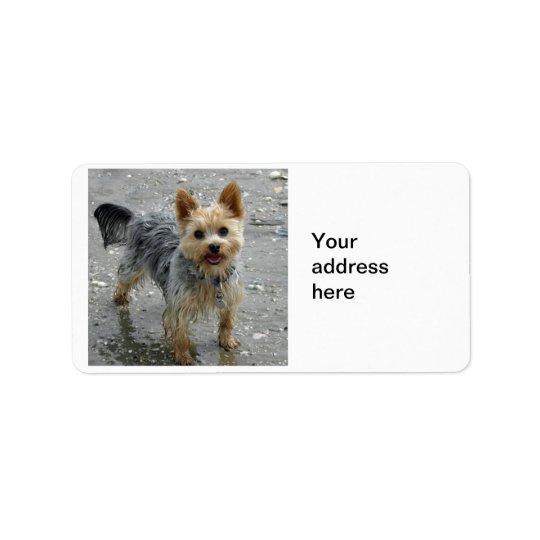 Yorkie Address Label