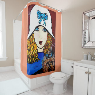YORKIE AND ME SHOWER CURTAIN