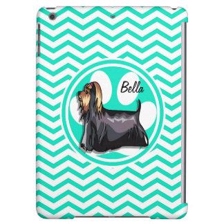 Yorkie; Aqua Green Chevron iPad Air Cases