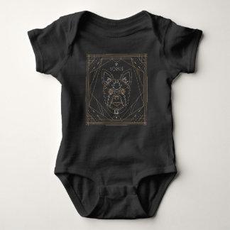Yorkie Art Deco Zodiac Baby Bodysuit