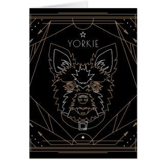 Yorkie Art Deco Zodiac Card