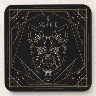 Yorkie Art Deco Zodiac Coaster