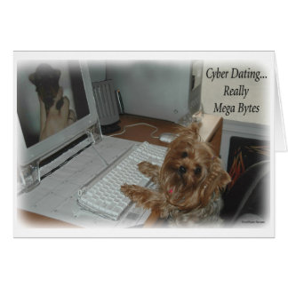 Yorkie Cyber Dating Card