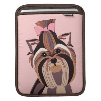 Yorkie Dog Art Sleeve For iPads
