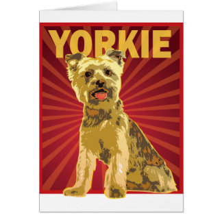 Yorkie Dog Owner Greeting Card