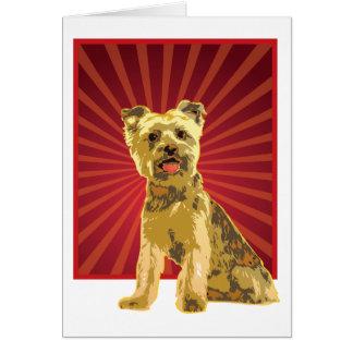 Yorkie Dog Owner Greeting Card