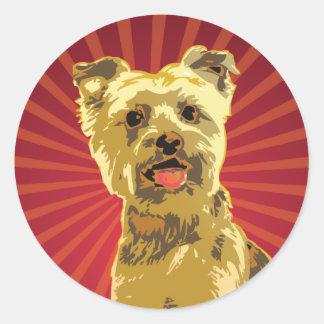Yorkie Dog Owner Round Sticker