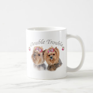 Yorkie Double Trouble Coffee Mug