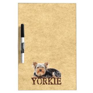 Yorkie Dry Erase Boards