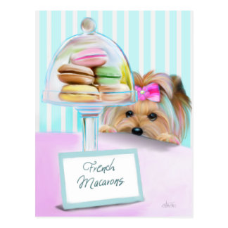 Yorkie French Macarons Postcard
