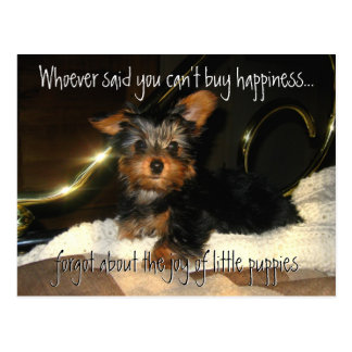 Yorkie Happiness  Customizable Postcard